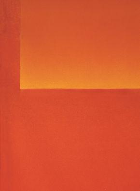 Detail aus: Rupprecht Geiger, Detail aus 429/65, 1965, Öl/Lwd., 220 x  176 cm