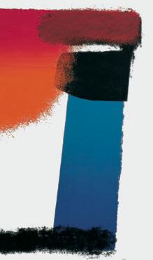 Ausschnitt aus: Geiger, Rupprecht, Blau, Rot und Schwarz / rot – orange – blau – schwarz, 1956 (WVG 23)