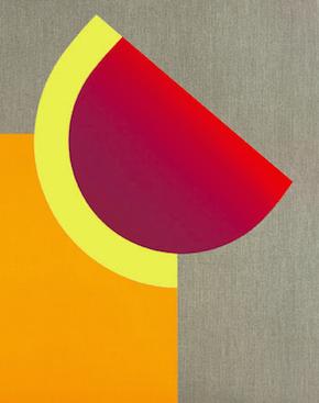 Ausschnitt aus: Geiger, Rupprecht, Geist und Materie 1, 2003/2004 (WVG 220), Handdruck mit Originalpigmenten/Safari-Leinen, 600g, 80 x 99 cm