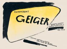 Rupprecht Geiger, Moderne Galerie Otto Stangl, München (19.6.–31.7.1953)