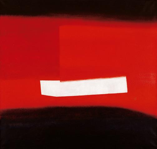 WV 173 OE 240 (Weiße Form im Rot zwischen Schwarz), 1957