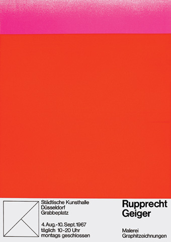 Rupprecht Geiger Malerei, Graphitzeichnung, Städtische Kunsthalle Düsseldorf, Düsseldorf (4.8.–10.9.1967)