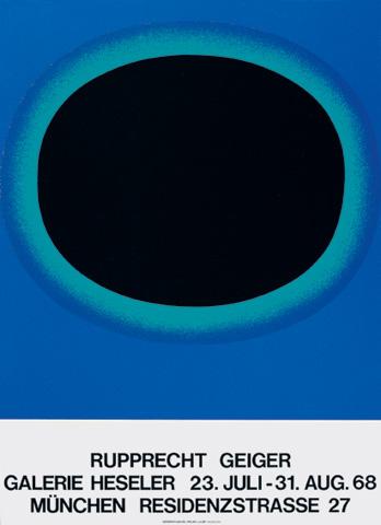 Rupprecht Geiger, Galerie Heseler, München (23.7.–31.8.1968)