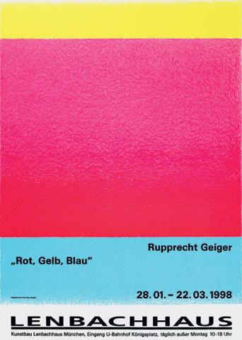 Rupprecht Geiger, Rot Gelb Blau, Kunstbau der Städtischen Galerie im Lenbachhaus, München (28.1.–22.3.1998)